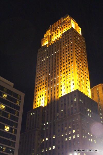 Carew Tower at night