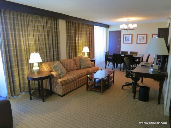 """Living room of """"Accessible suite: King Bed"""""""