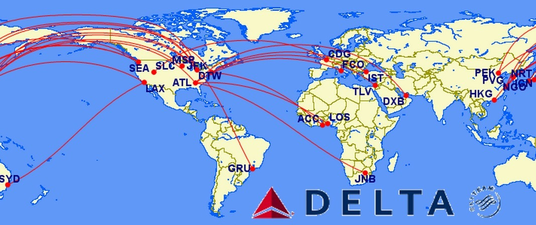 top 12 longest non stop delta flights in the world