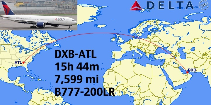 Top 12 Longest NonStop Delta Flights in the World – Delta Travel Map