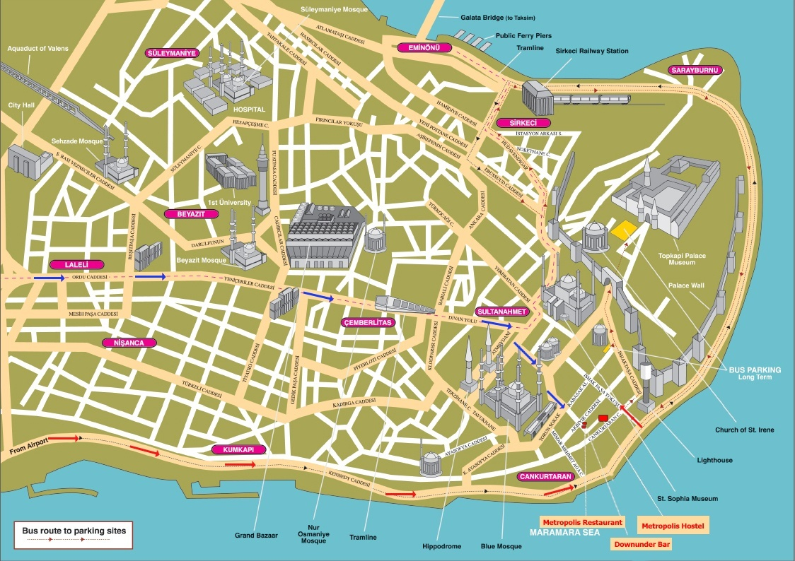 Map of Istanbul - Hotels and Attractions on a Istanbul map - TripAdvisor