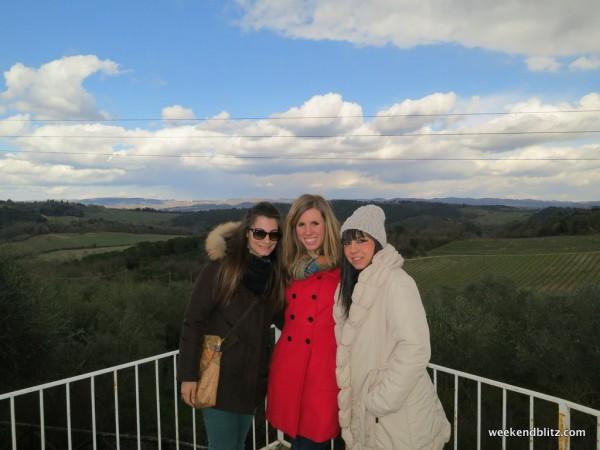 My host sisters Elisabetta & Laura outside of Monteriggioni