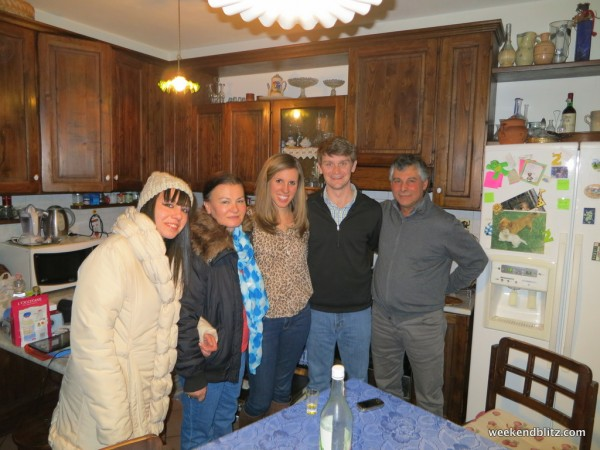 My host family (without Elisabetta) and plus Jeffrey!