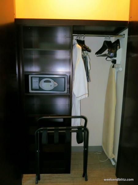 Half-sized closet/wardrobe