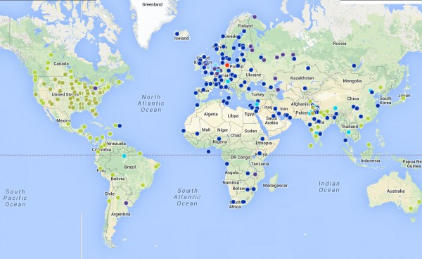 club carlson map of hotels worldwide
