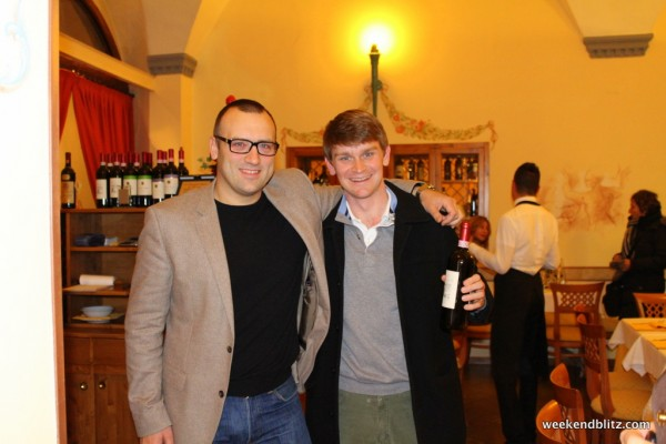 Here's Jeffrey with the owner, Guiseppe