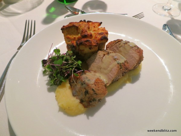 Pork Loin with Bread Pudding