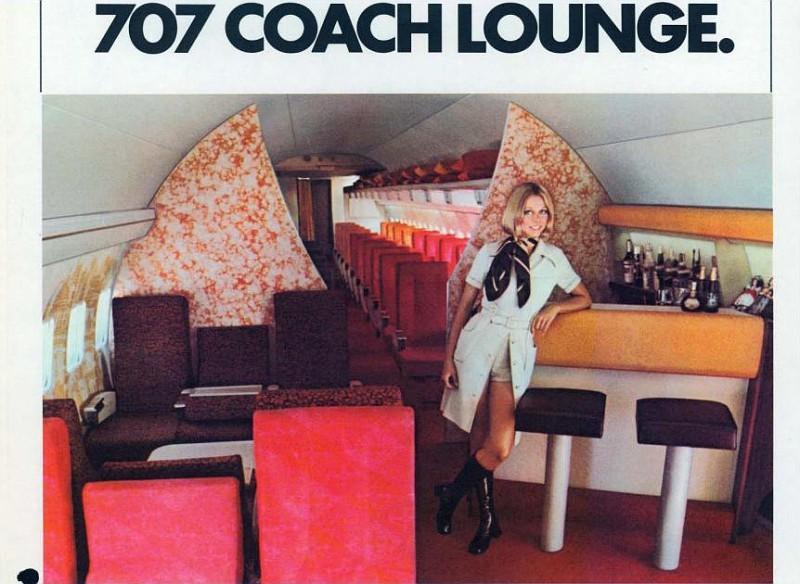 TWA's 707 Lounge