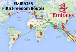 emirates fifth freedom routes