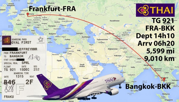 Thai Airways A380 Royal First Class - FRA-BKK - Airliners.net