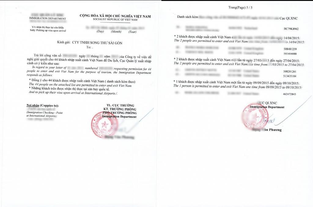 Vietnam Visa Letter 1