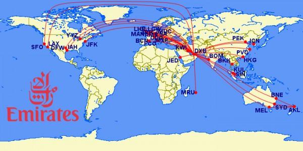 emirates a380 routes
