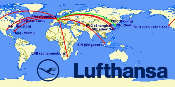 lufthansa a380 routes