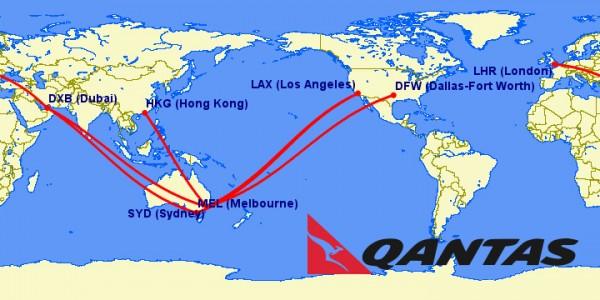 qantas a380 routes