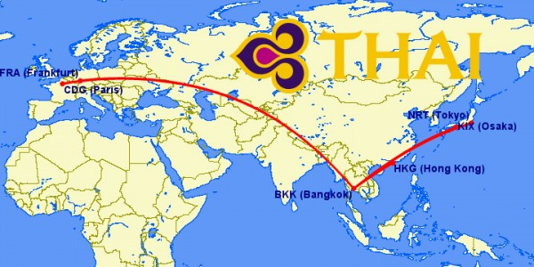 thai a380 routes