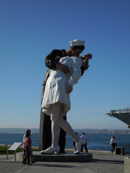 Unconditional Surrender statue at the USS Midway