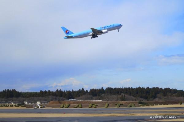 Korean Air taking off
