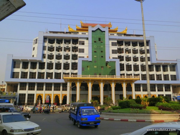 Main train station in Mandalay