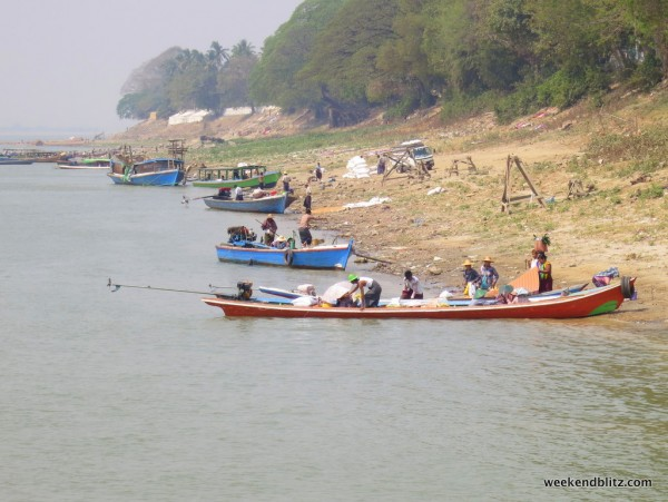 The busy banks of the Irrawaddy River