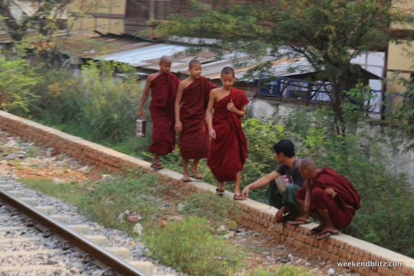 Monks on their way to do some monk stuff