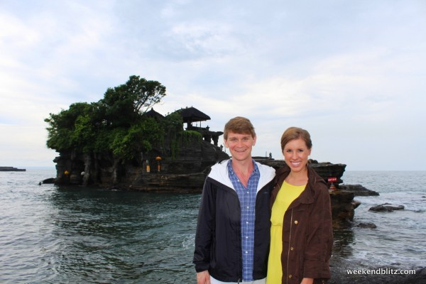 In front of Tanah Lot