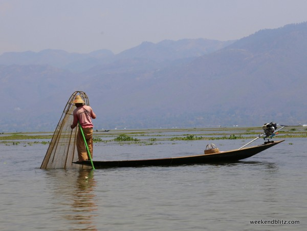 Inle Lake fisherman, a now-familiar sight
