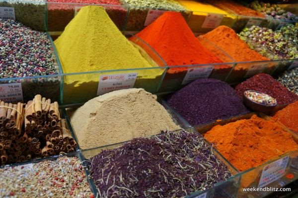 Bright, colorful spices at the Egyptian Spice Market in Istanbul