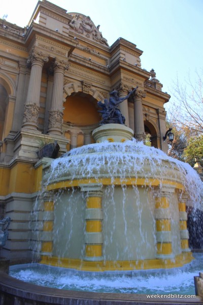 Headed up Cerro San Lucia - first stop: this beautiful fountain