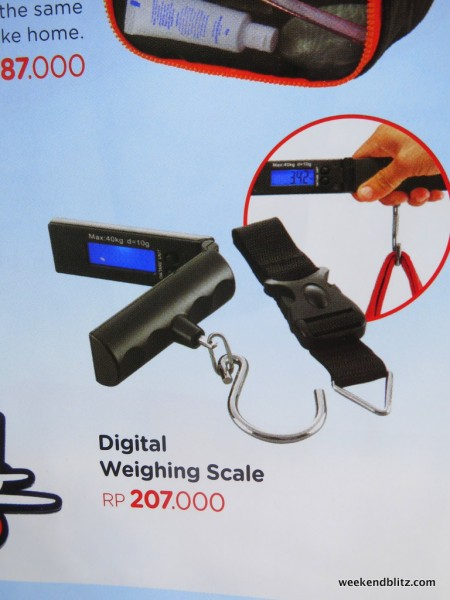 Digital weighing scale, it might sounds steep at about $20 US but I might they sell quite a few to the victims that they just charged $10/kilo overage to at check-in