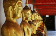Wall of Golden Buddhas at Wat Pho