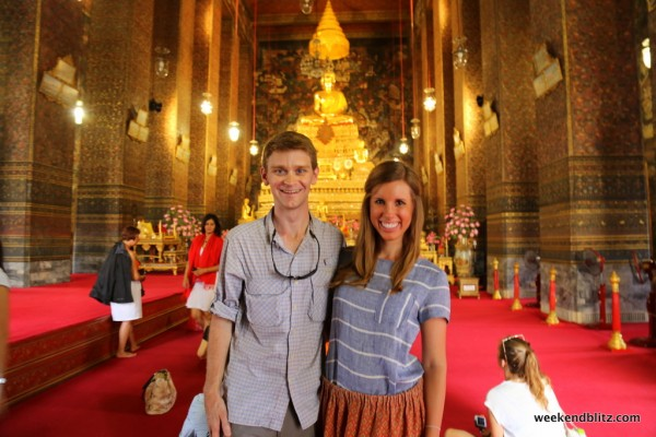 Inside the ubosot of Wat Pho