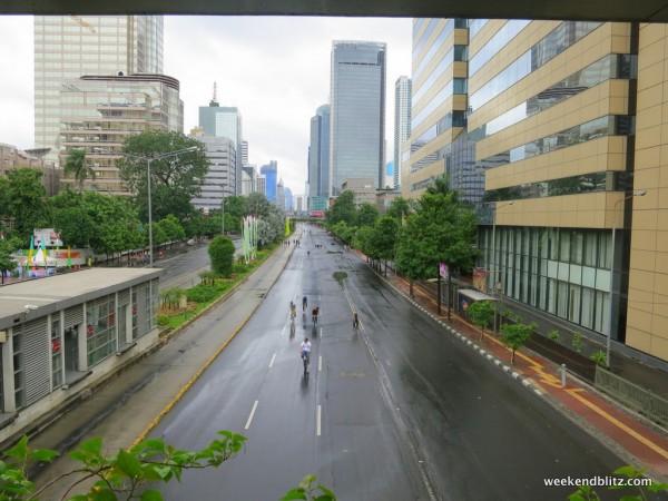 Jalan MH Thamrin on a car-free Sunday